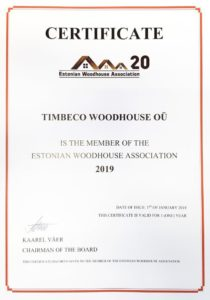 Timbeco-wooden-house sertificate
