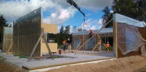Montering av byggelement