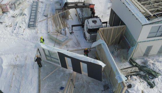 Byggande av elementhus