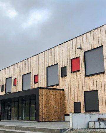 Bardufoss skola utfackningsväggar