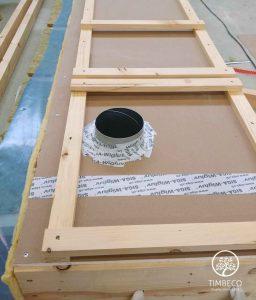 Genomföringar för ventilationsöppningar